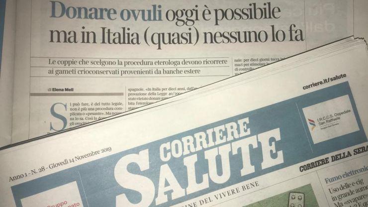 Corriere Salute – Donare ovuli oggi è possibile, ma in Italia (quasi) nessuno lo fa