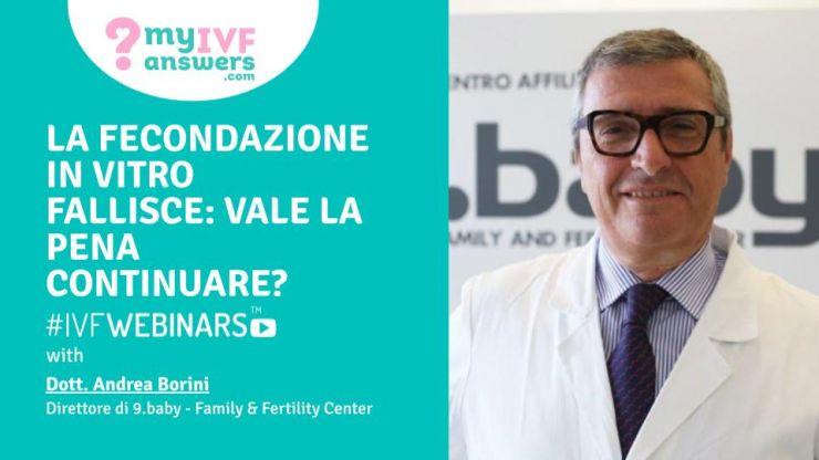 Informazione e infertilità: il dott. Borini partecipa al ciclo di webinar di The European Fertility Society